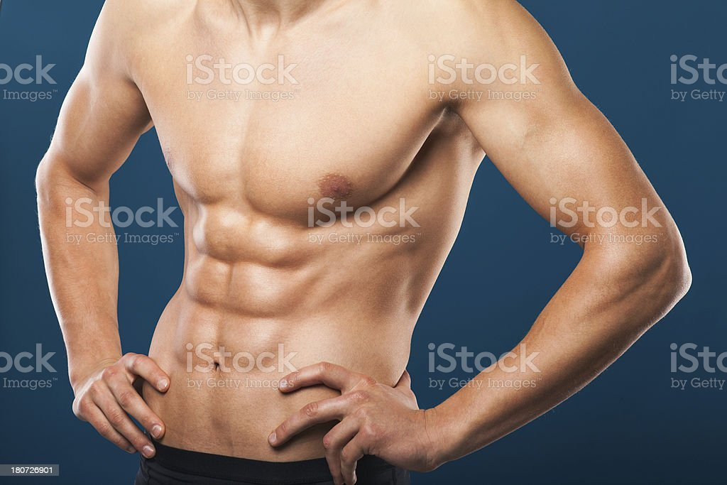 Muscular torso royalty-free stock photo
