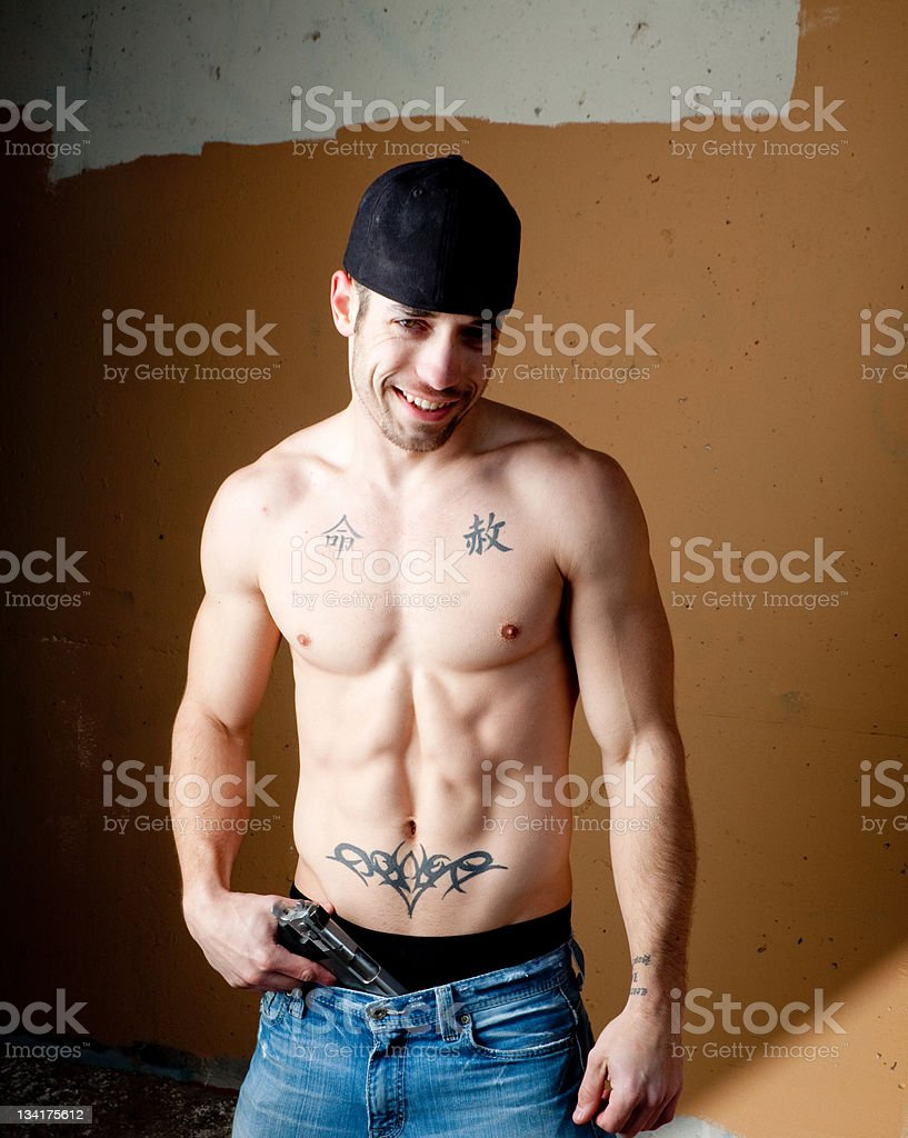Muscular Undercover Police Officer royalty-free stock photo