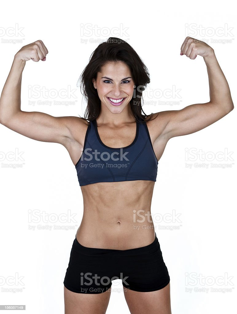 Muscular woman royalty-free stock photo