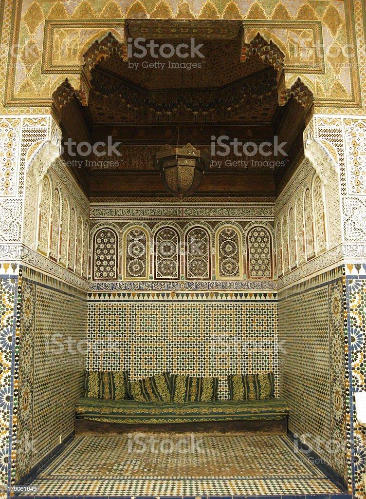 Musée de Marrakech - Seating Niche royalty-free stock photo
