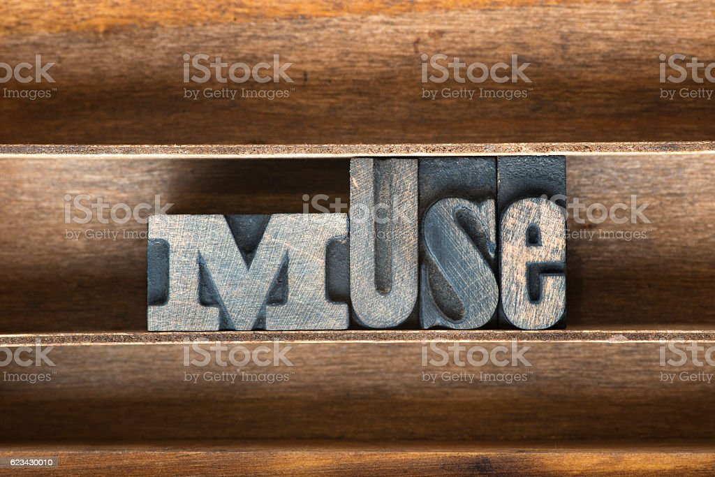 muse wooden tray stock photo