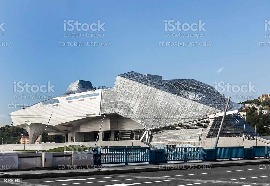 Musee des Confluences is a science and anthropology museum stock photo