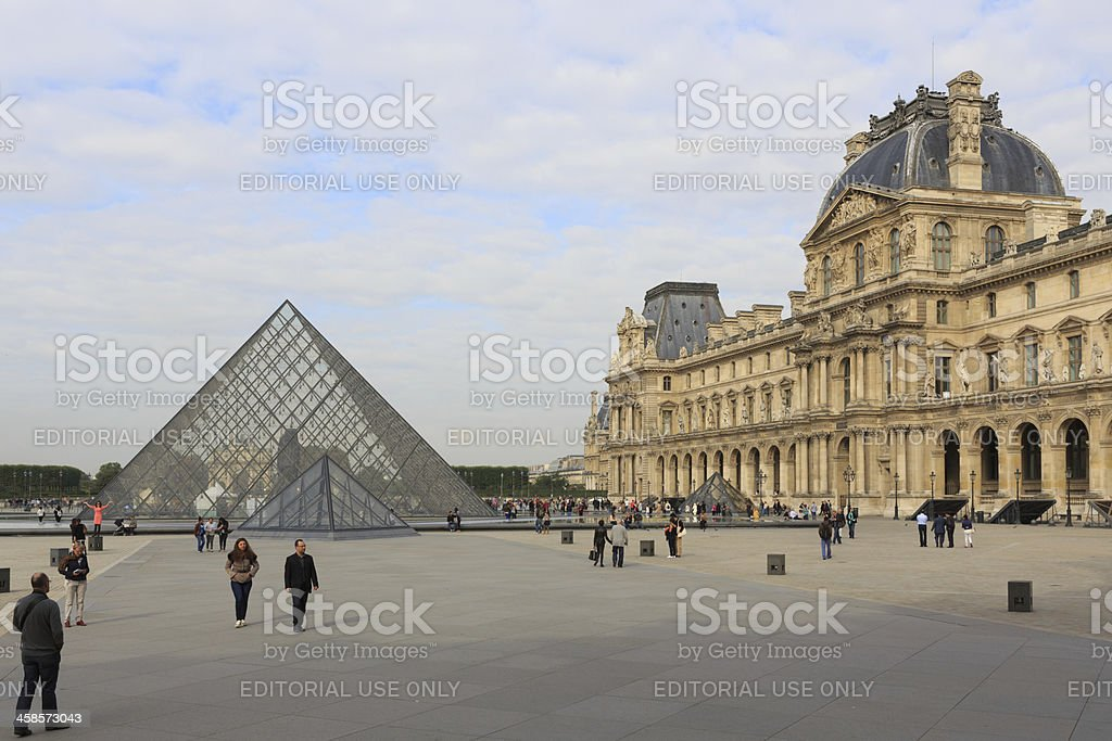 Musee du Louvre in Paris, France stock photo