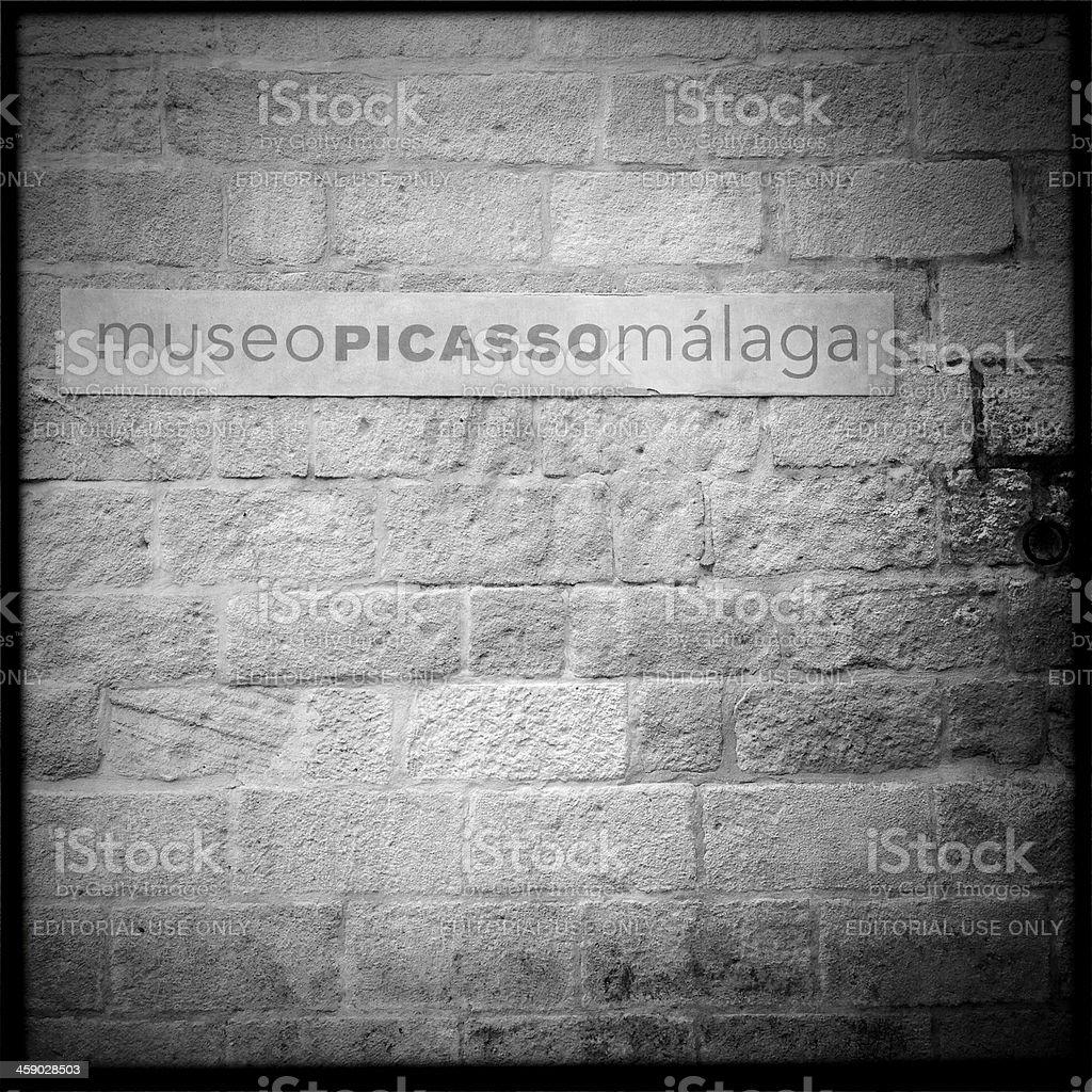 Museo Picasso Malaga Sign stock photo