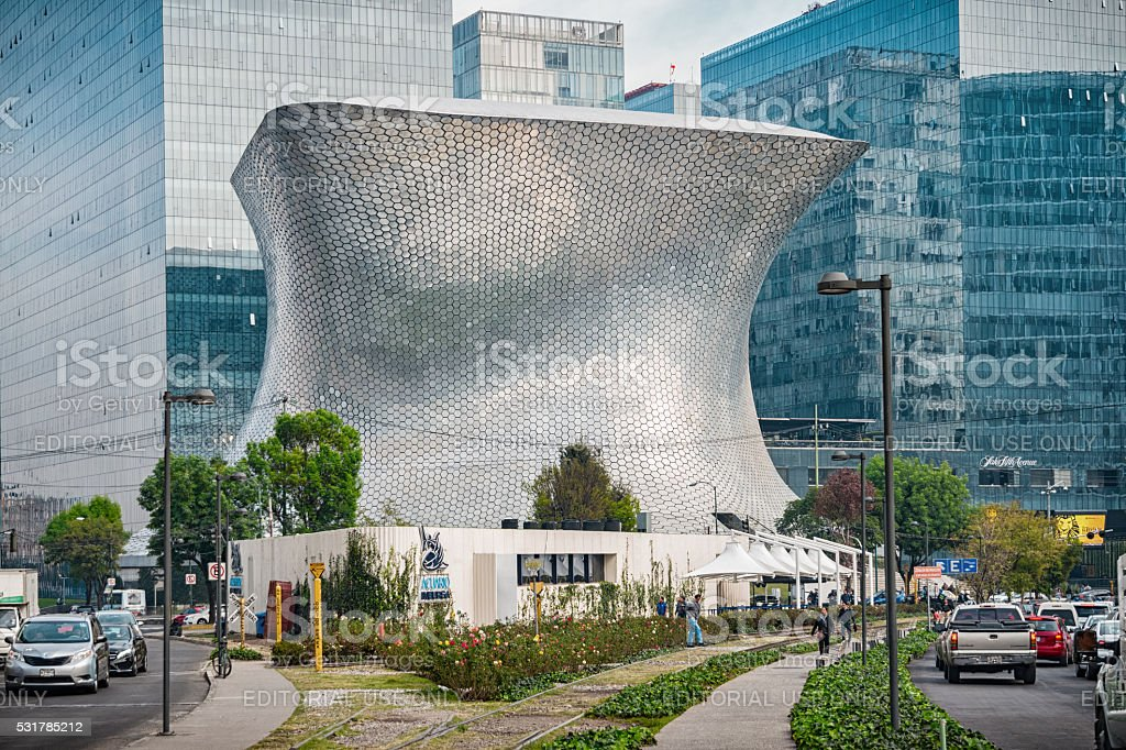 Museo Soumaya in the Polanco Neighborhood of Mexico City stock photo