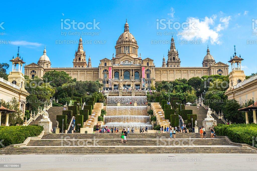 Museu Nacional d'Art de Catalunya in Barcelona Spain stock photo