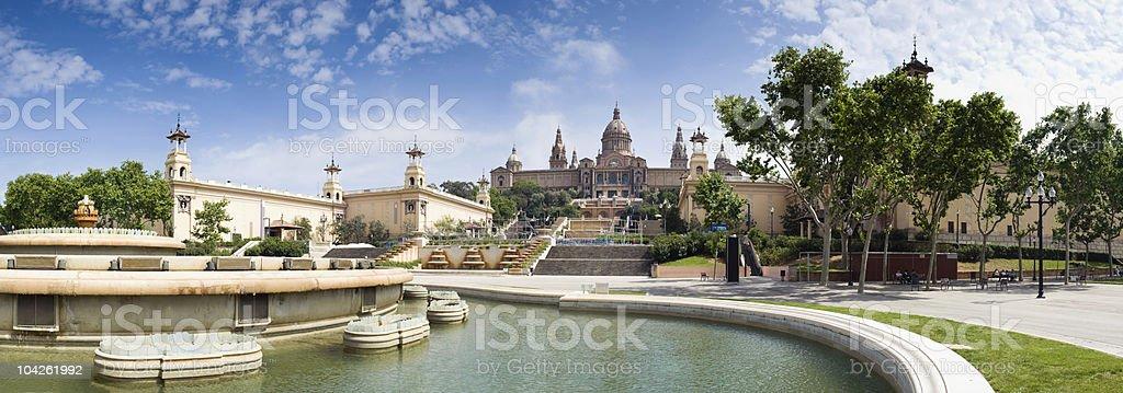 Museu Nacional d'Art de Catalunya stock photo