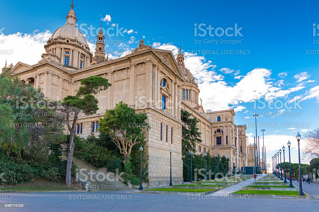 Museu Nacional d'Art de Catalunya stock photo