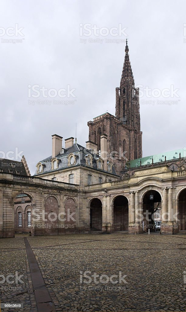 museum and cathedral in Strasbourg stock photo