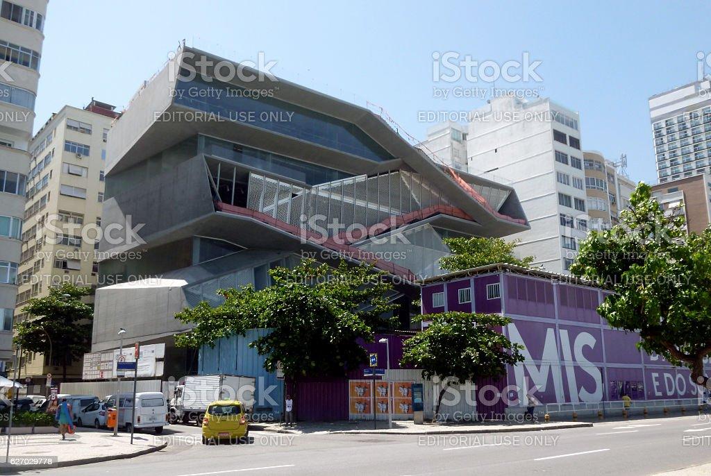 MIS Museum at Copacabana Beach in Rio stock photo