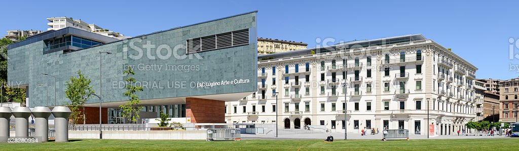 LAC museum at Lugano on the italian part of Switzerland stock photo