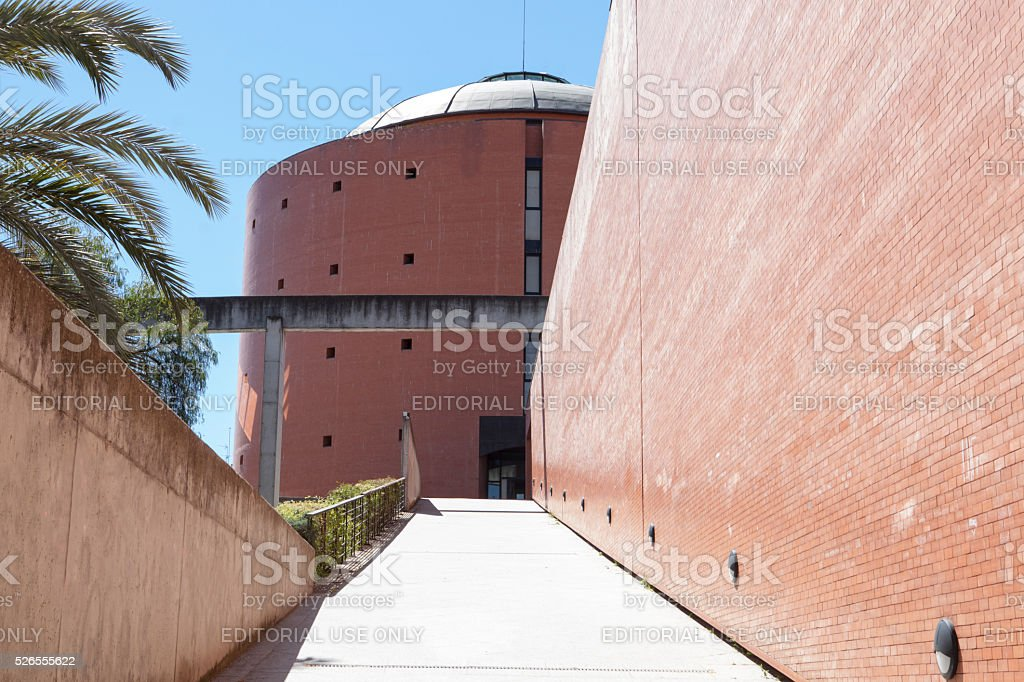 MEIAC Museum building, entry ramp stock photo