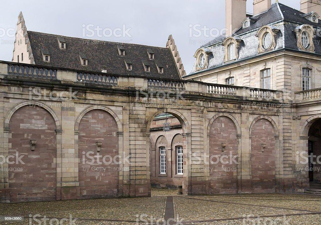 museum detail in Strasbourg stock photo
