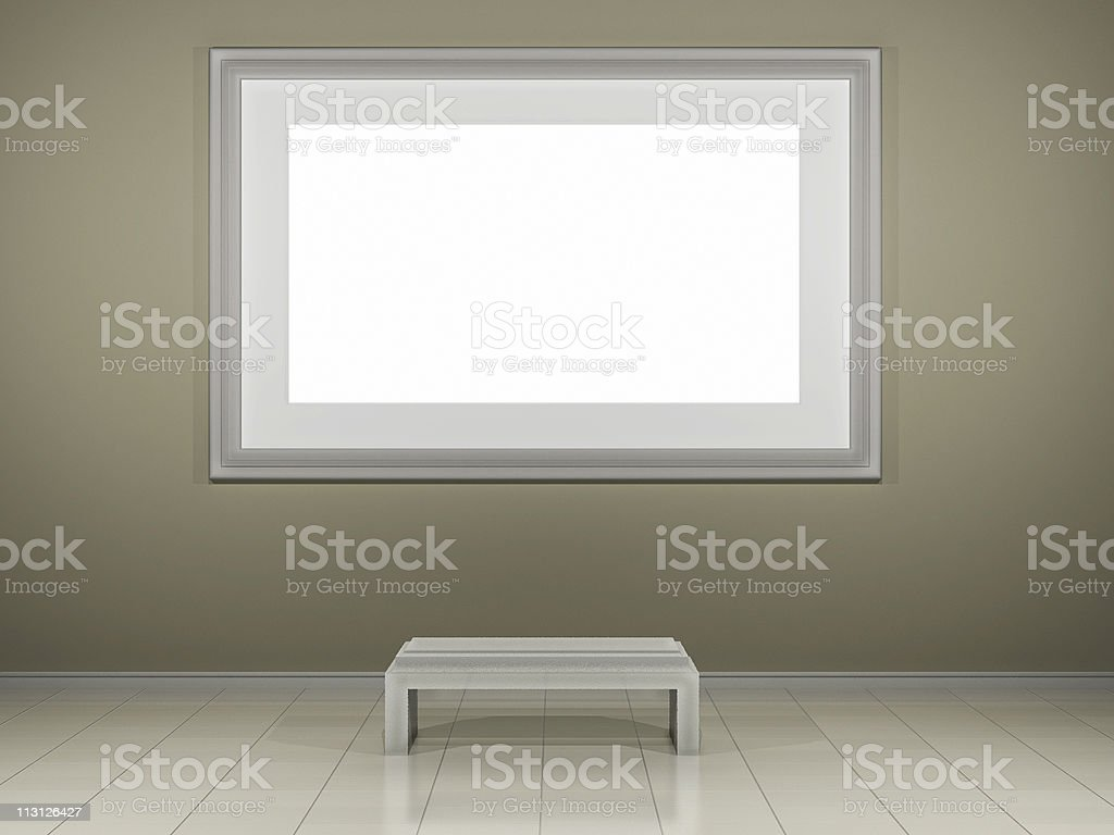Museum Frame Insert your Design (3D) royalty-free stock photo