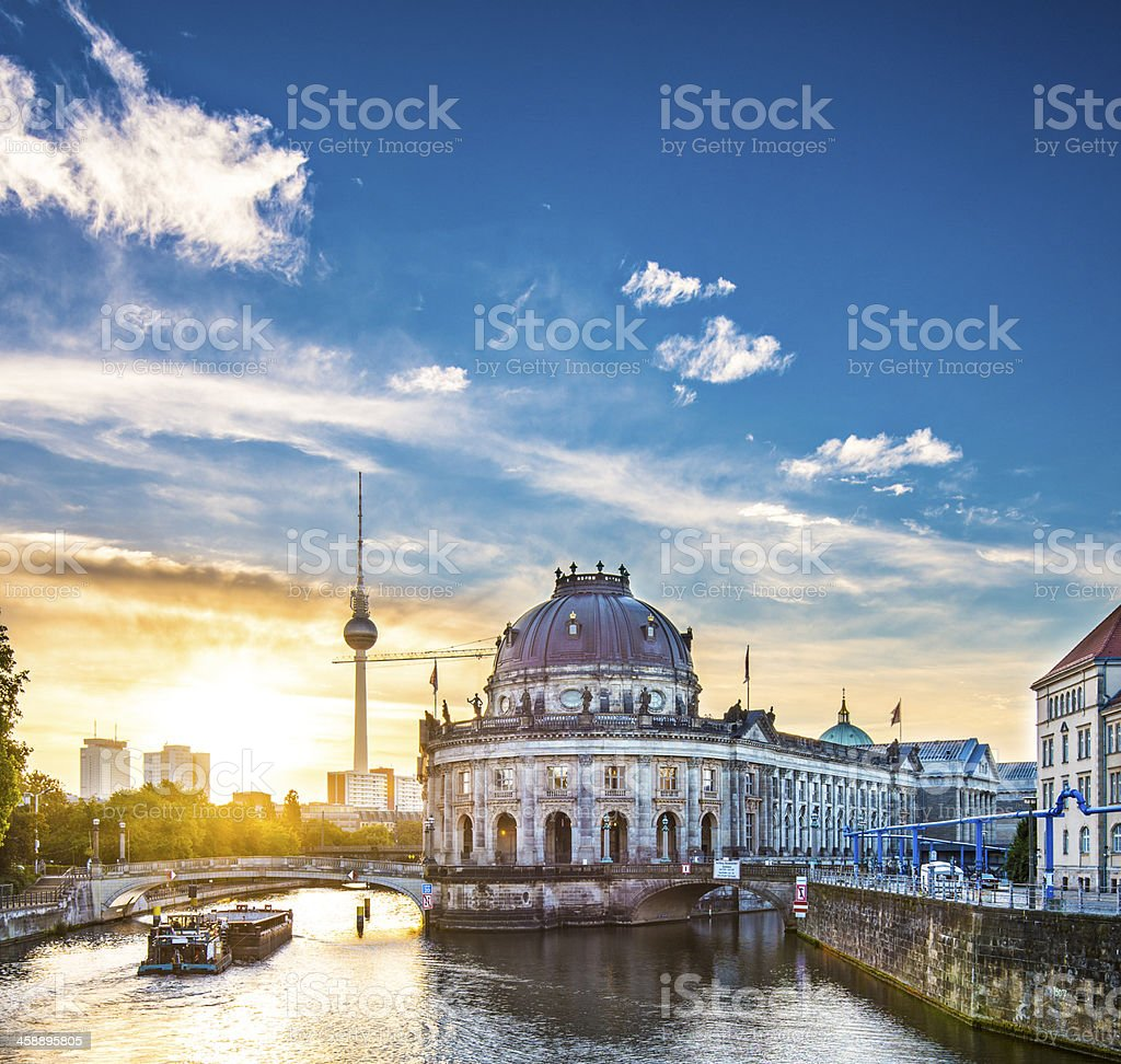 Museum Island and Television Tower in Berlin stock photo