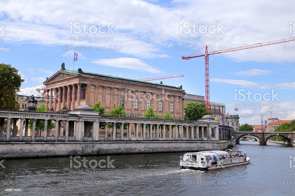 Museum Island which includes Alte Nationalgalerie (Old National Gallery). stock photo