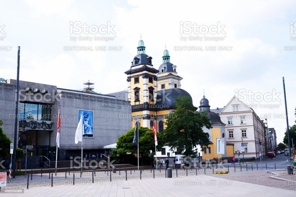 Museum Kunsthalle NRW in D?sseldorf at Grabbeplatz stock photo