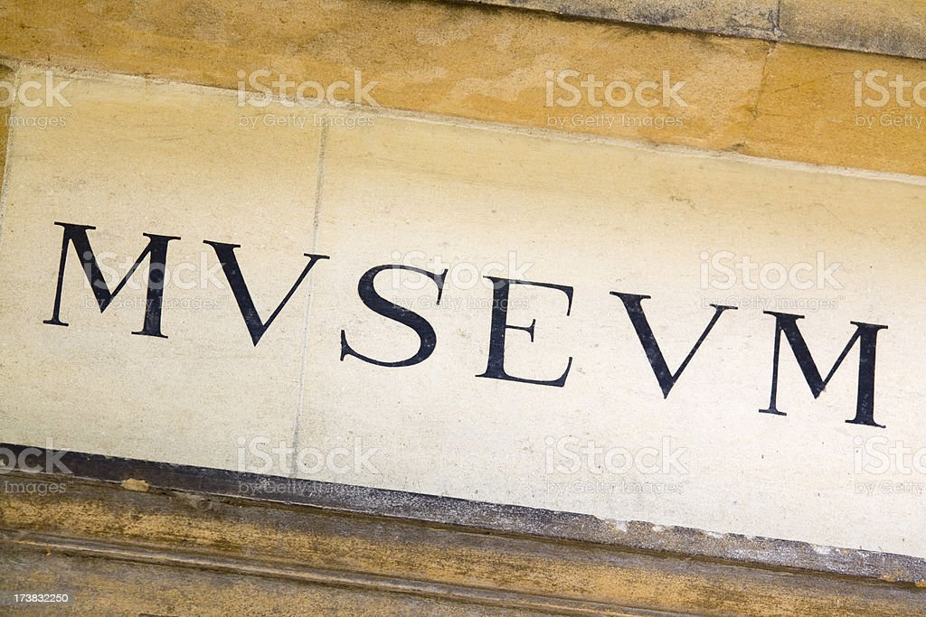 Museum Lettering royalty-free stock photo