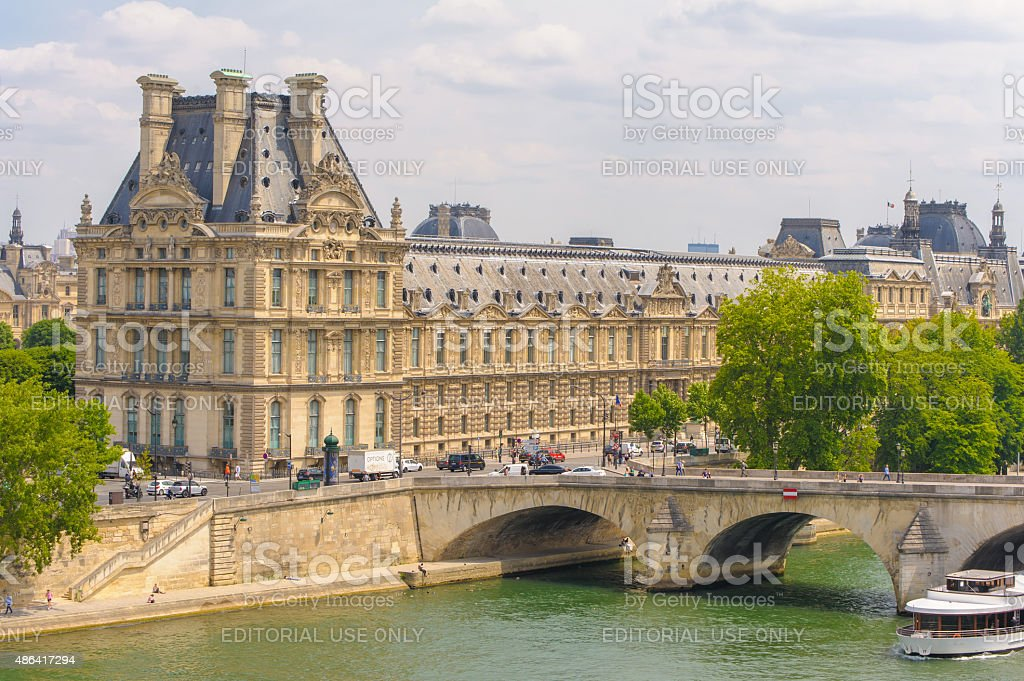 museum Louvre and Pond Royal stock photo