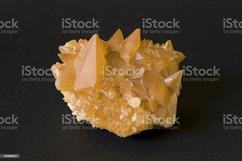 Museum mineral series: Calcite from Austria. 8cm across. stock photo
