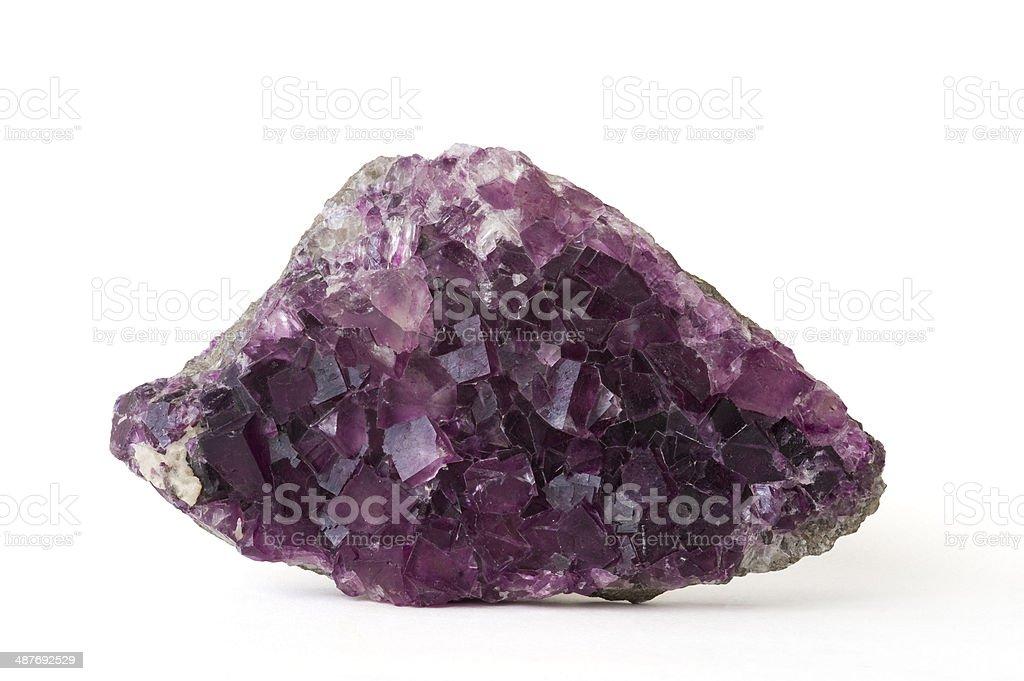 Museum mineral series: Fluorite. 23cm across. stock photo