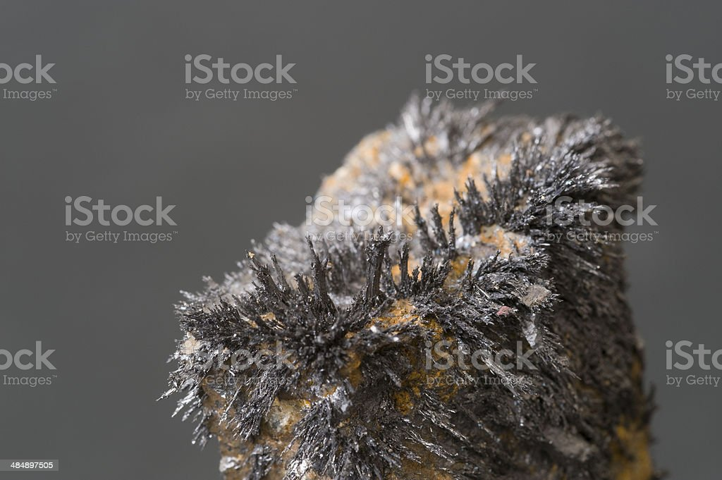 Museum mineral series: Magnetite from Utah, USA. stock photo