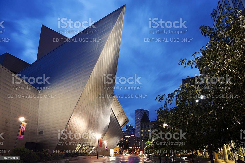 Museum of Art in Denver stock photo