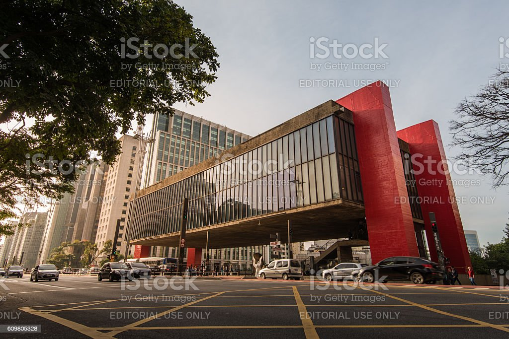 Museum of Art of Sao Paulo stock photo
