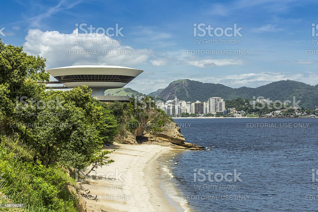 Museum of Contemporary Art in Niteroi royalty-free stock photo