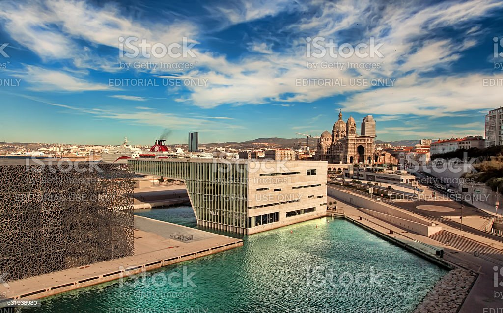 MARSEILLE, FRANCE -  Museum of European and Mediterranean Civilizations (MuCEM). stock photo