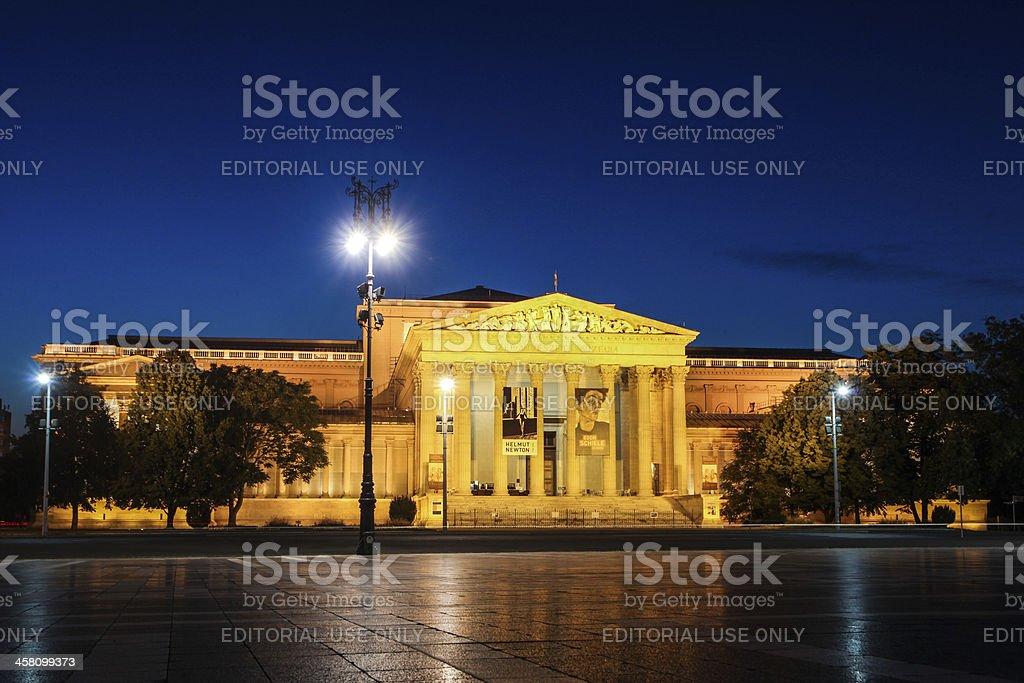 Museum of Fine Arts Budapest stock photo