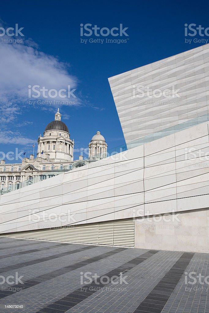 Museum of Liverpool and Port of Liverpool Building, Liverpool, UK stock photo