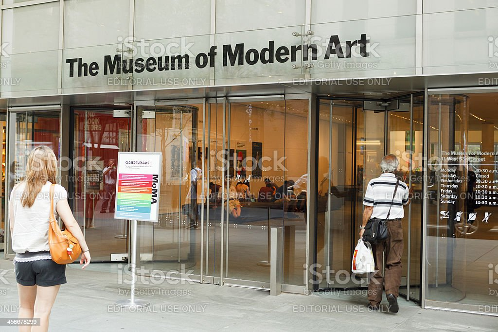 Museum of Modern Art Entrance Manhattan stock photo
