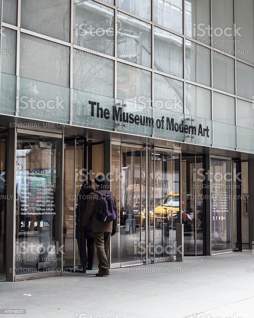 Museum of Modern Art NYC stock photo