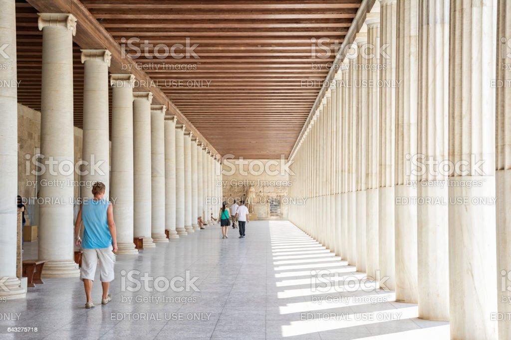 Museum of the Ancient Agora inside Stoa of Attalos, Athens, Greece stock photo