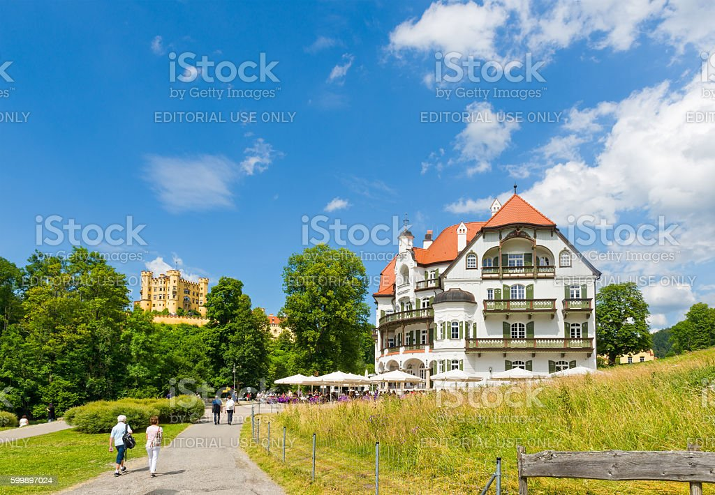 Museum of the Bavarian Kings with Hohenschwangau Castle stock photo