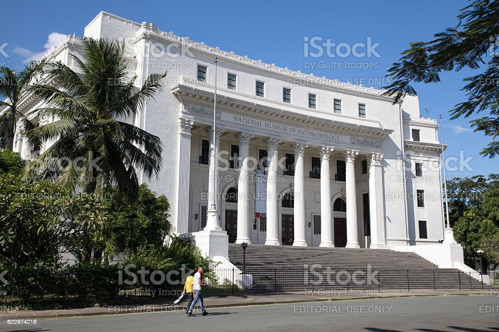 Museum of the Filipino People facade in Rizal Park stock photo