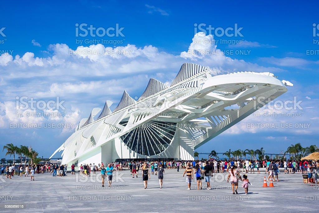 Museum of Tomorrow in Rio de Janeiro, Brazil stock photo