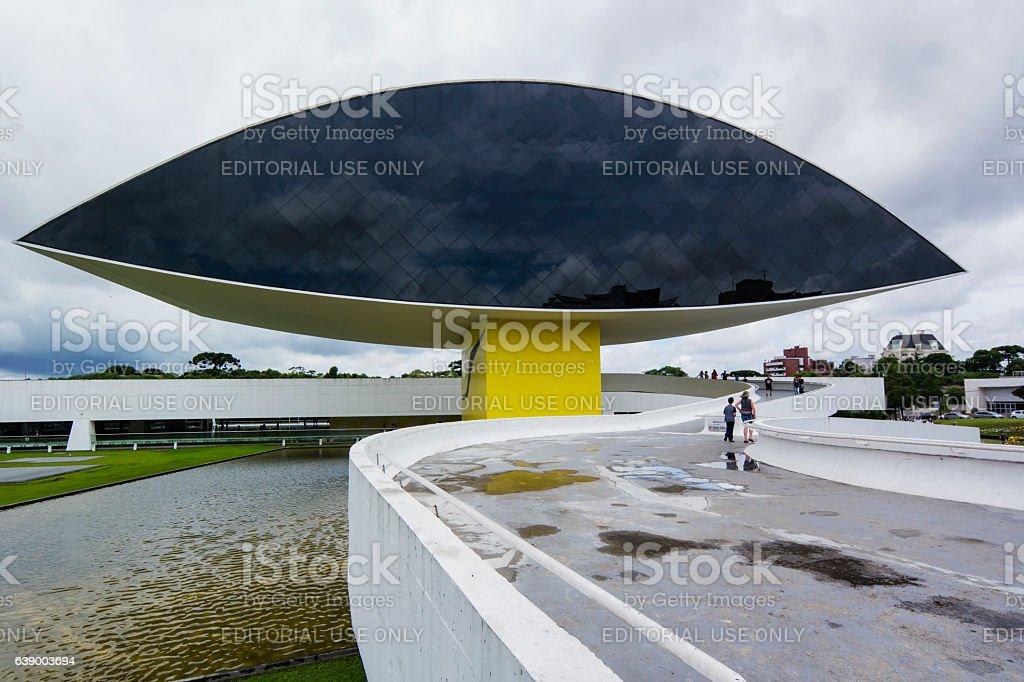 Museum  Oscar Niemeyer stock photo