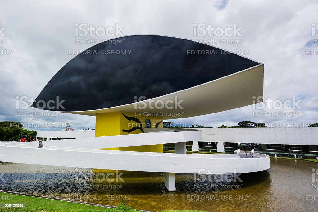 Museum  Oscar Niemeyer stock photo