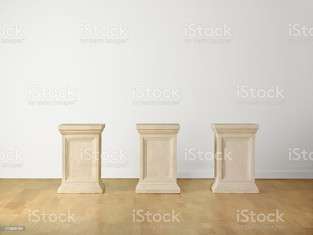 Museum Pedestals royalty-free stock photo