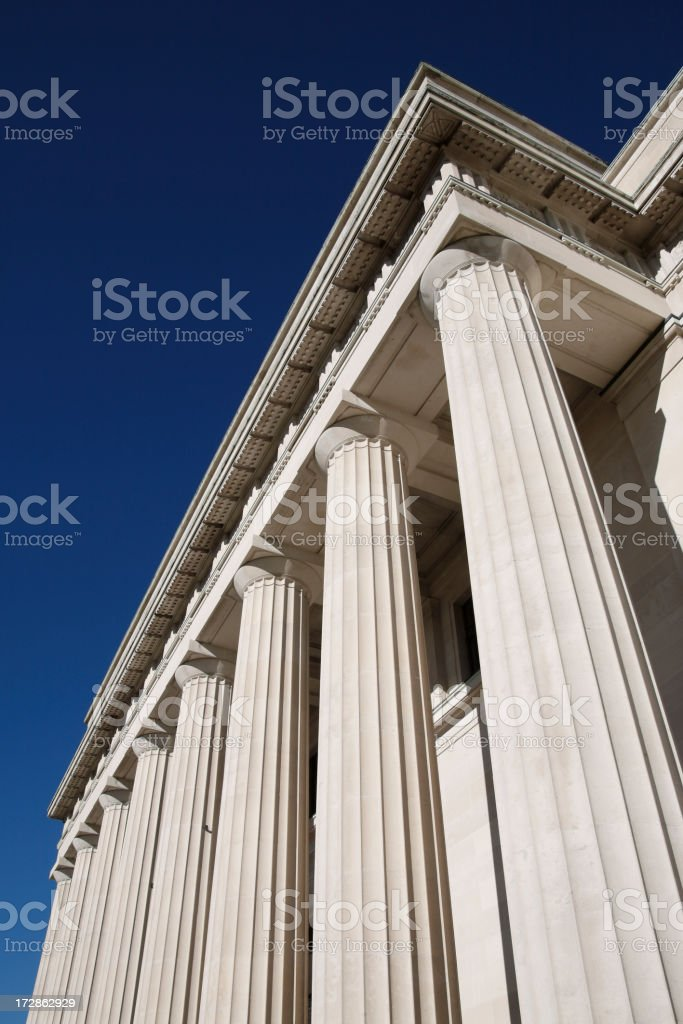 Museum Pillars royalty-free stock photo