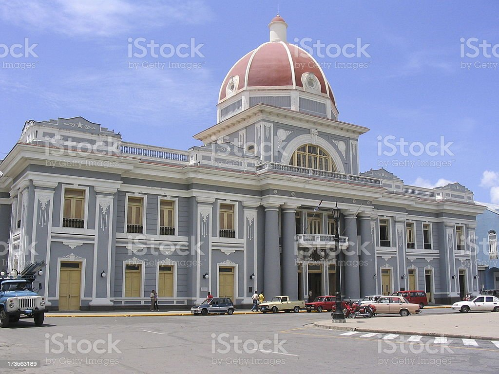 FT - Museum Provincial of the city Cienfuegos Cuba royalty-free stock photo