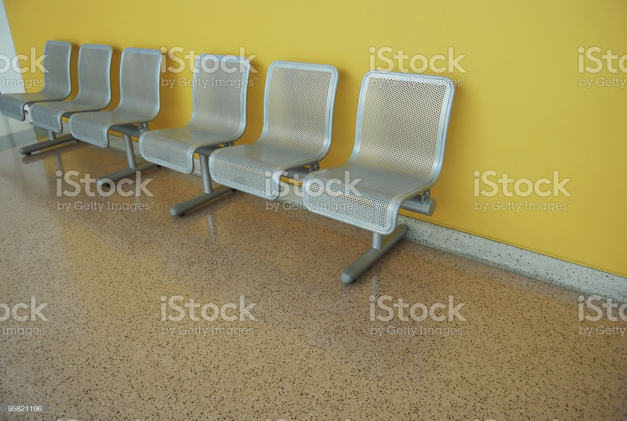 museum seating on terrazzo royalty-free stock photo