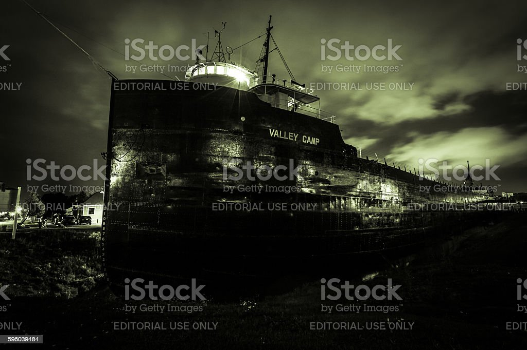 Museum Ship Valley Camp stock photo