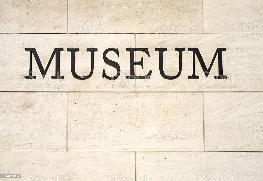 Museum Sign on the Wall royalty-free stock photo