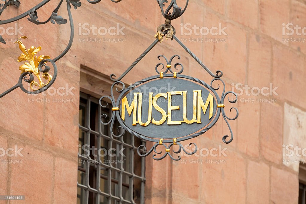 Museum sign royalty-free stock photo