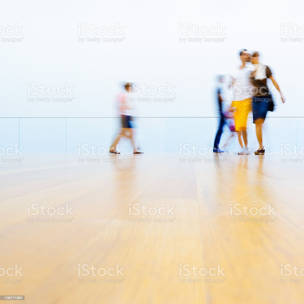Museum Visitors New York City royalty-free stock photo