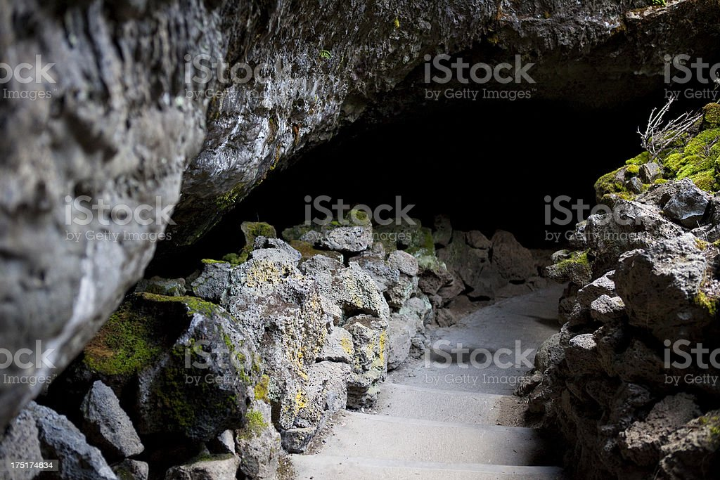 Mushpot Cave at Lava Beds National Monument royalty-free stock photo