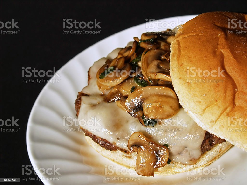 mushroom burger royalty-free stock photo